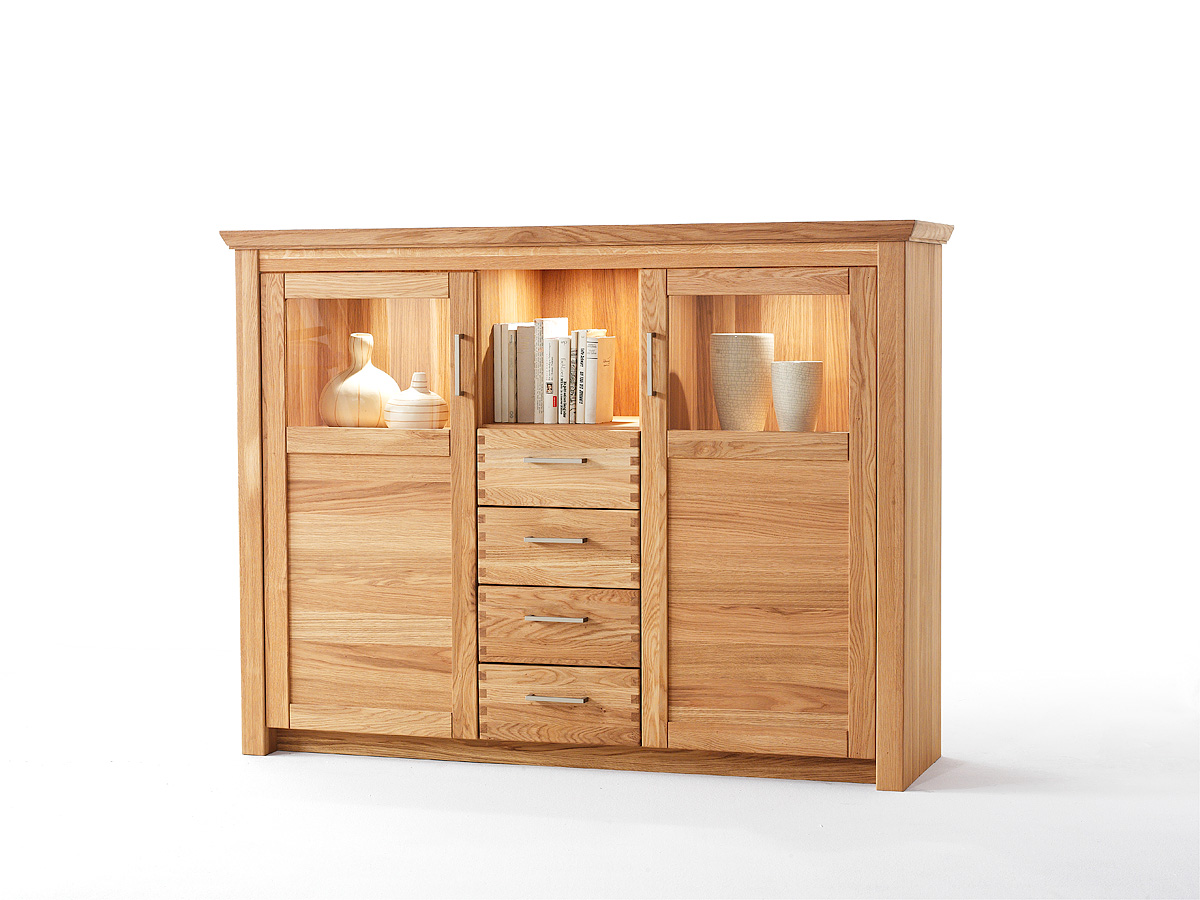 highboard morton robas lund eiche hell 2trg 4sk ebay. Black Bedroom Furniture Sets. Home Design Ideas
