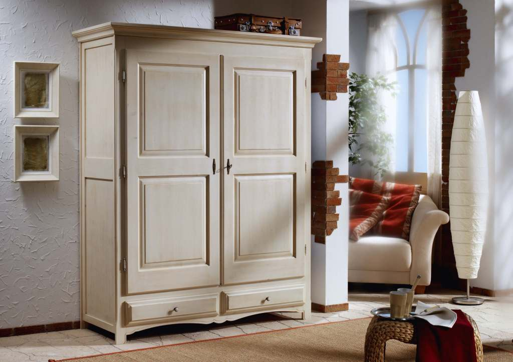 bauernschrank gloria 2475 fichte gradel weiss ebay. Black Bedroom Furniture Sets. Home Design Ideas