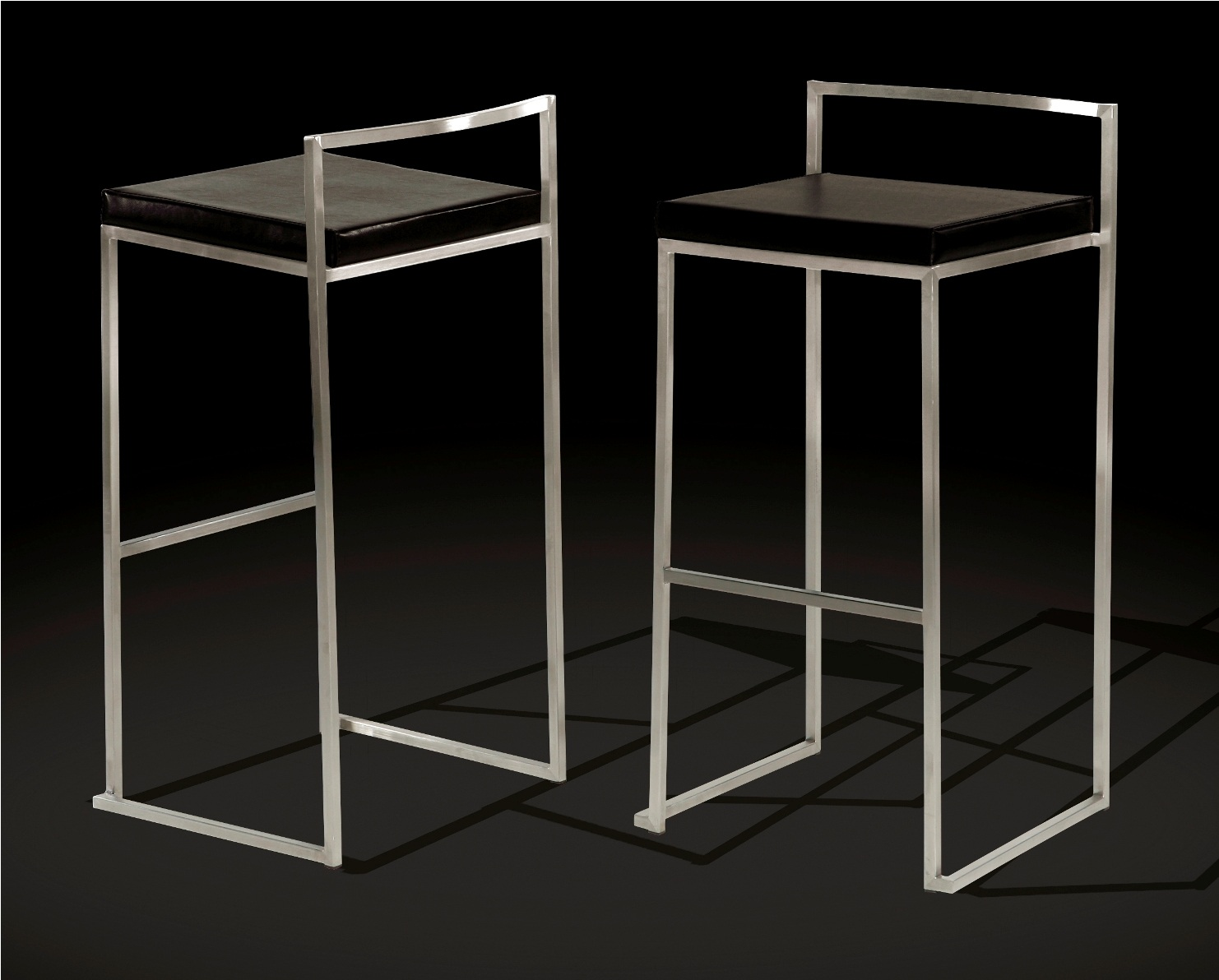barhocker slim danform echtleder schwarz ebay. Black Bedroom Furniture Sets. Home Design Ideas