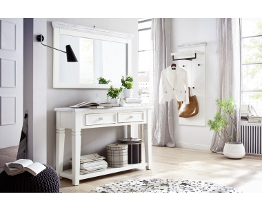 garderobe landhaus opos set no 1 flurm bel wei. Black Bedroom Furniture Sets. Home Design Ideas