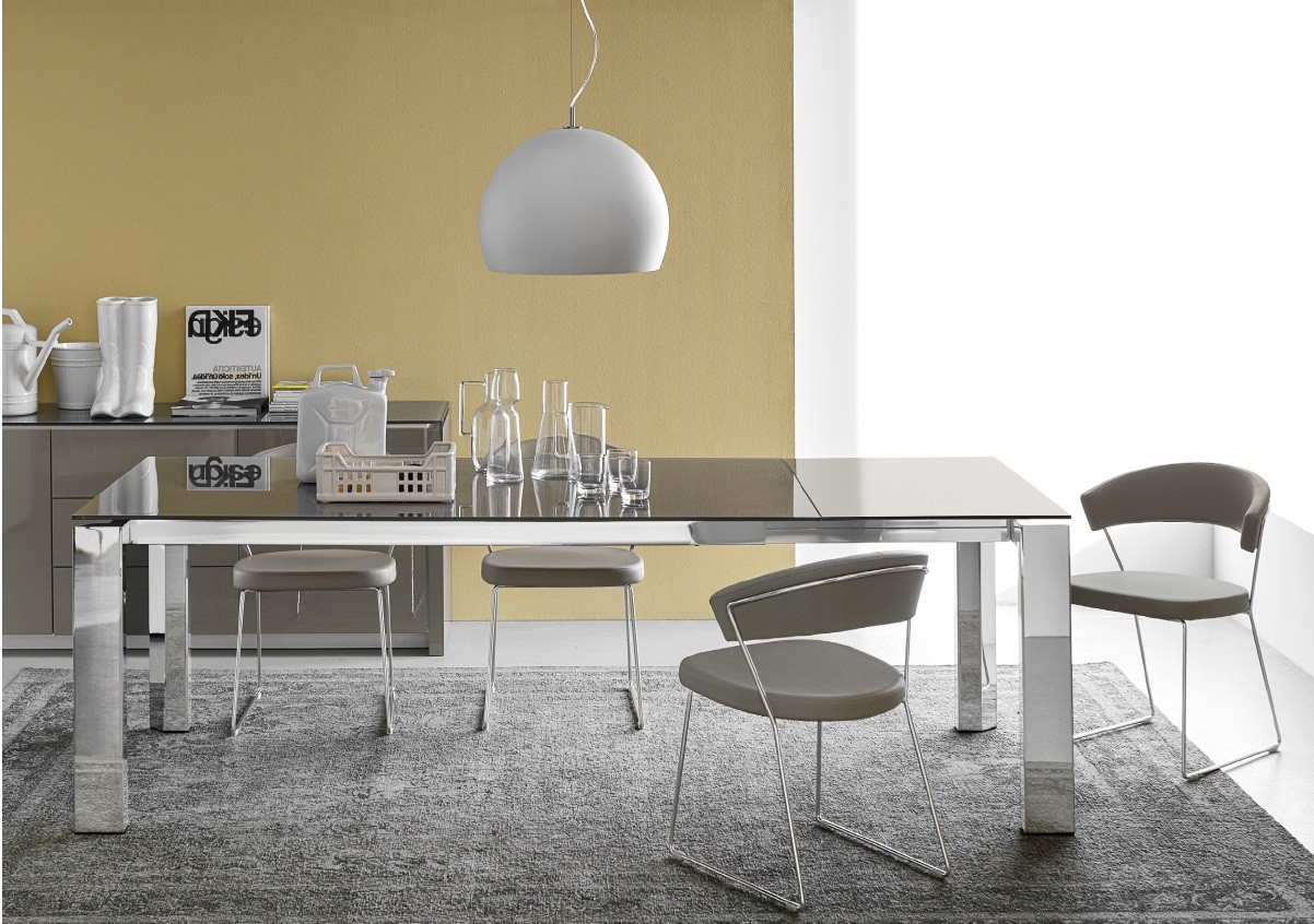 Calligaris gate design esstisch bei for Design esstisch glas