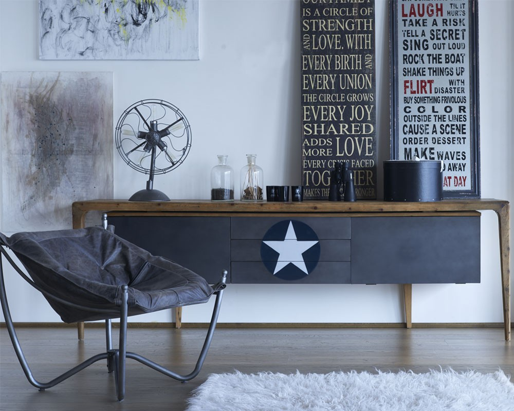 sideboard retro dialma brown. Black Bedroom Furniture Sets. Home Design Ideas