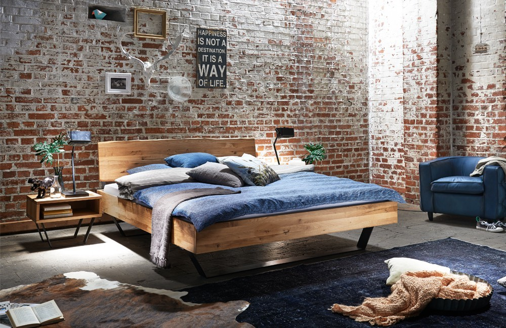 bett industrielook tj rnbo modern sleep. Black Bedroom Furniture Sets. Home Design Ideas