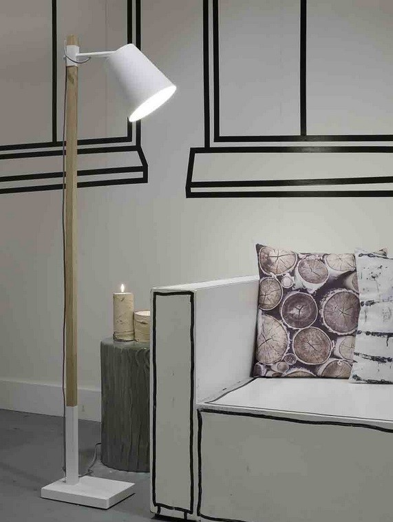 stehlampe holz metall it 39 s about romi. Black Bedroom Furniture Sets. Home Design Ideas