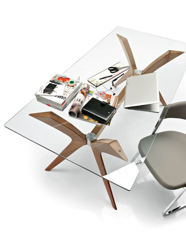design glas esstisch rechteckig calligaris tokyo. Black Bedroom Furniture Sets. Home Design Ideas