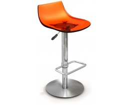 Barhocker höhenverstellbar Chef, Transparent Orange