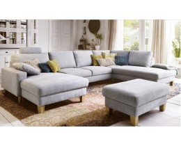 Intermezzo Sofa Schlaffunktion Candy, U-Sofa Longchair li + Umbauecke re
