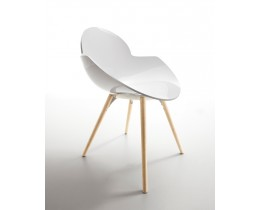 Designstuhl Cookie Wooden Legs Infiniti Made in Italy