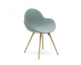 Infiniti Cookie Wooden Legs Upholstered Polsterstuhl
