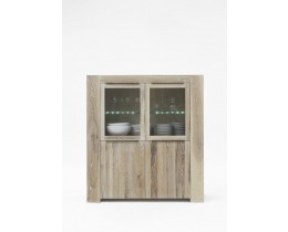 Highboard Hochkommde Balkeneiche Bodahl Big Time, Farbe White Wash