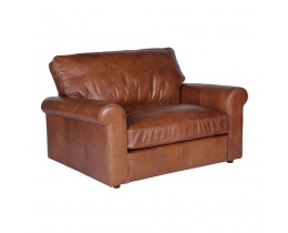 Timothy Oulton Hudson Loveseat Old Saddle Nut