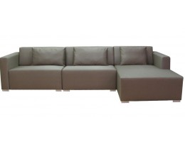 Lounge Garten Sofa Ibiza Version 3 Bezug Silvertex Taupe 0009