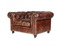 Timothy Oulton Kensington Lounge Sessel, Vintage Cigar