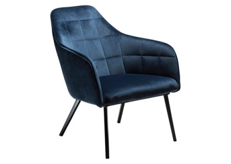 Danform Embrace Lounge Sessel, Velour Midnight Blau