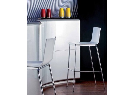 Design Barhocker Pedrali Kuadra 1112 im 2er Set stapelbar
