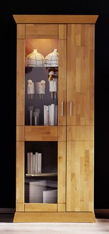 vitrine schrank quadra erle red alder 1 trg ebay. Black Bedroom Furniture Sets. Home Design Ideas