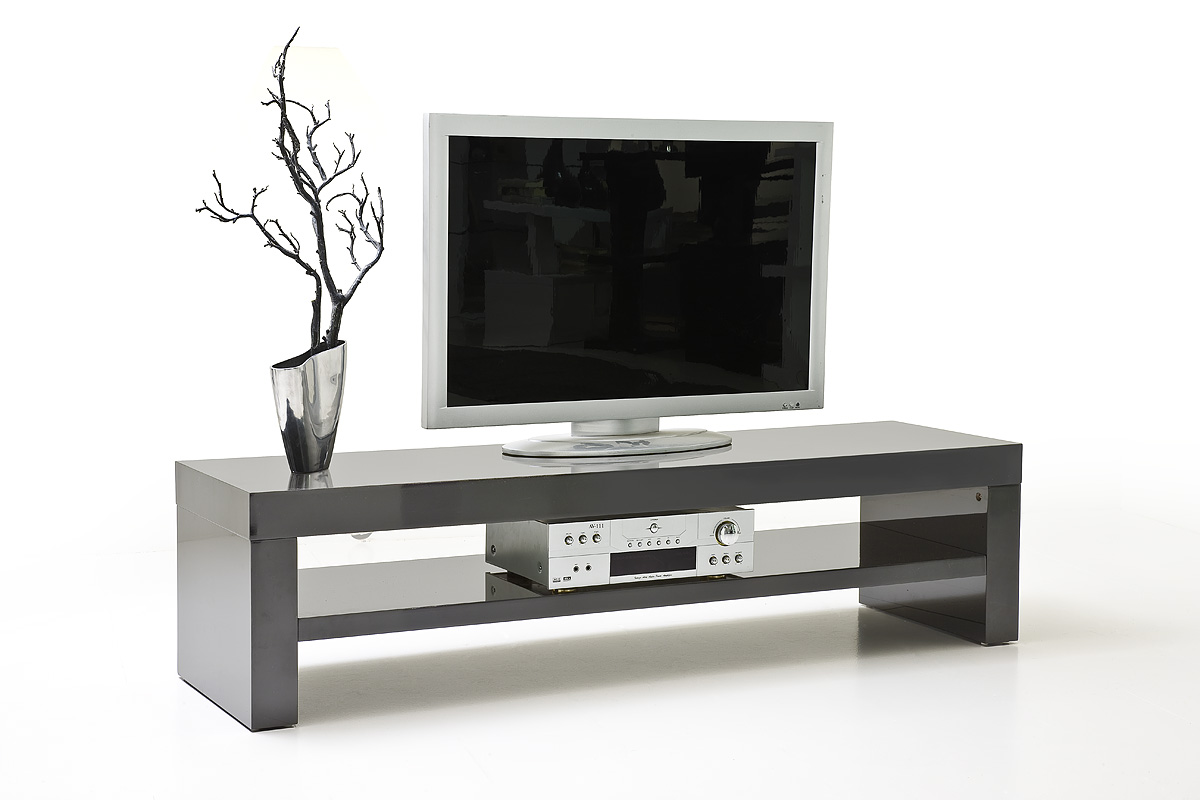tv lowboard gino hochglanz grau 160 cm ebay. Black Bedroom Furniture Sets. Home Design Ideas