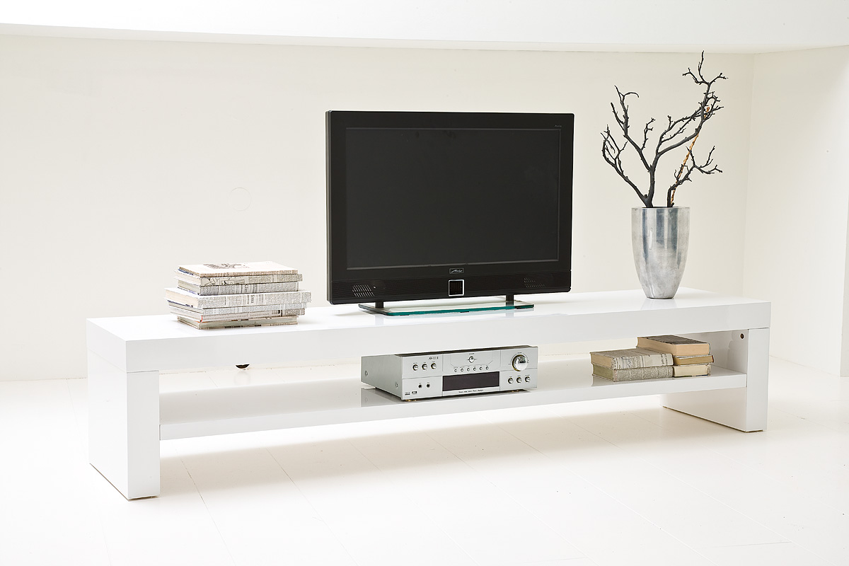 tv lowboard h ngend weiss interessante. Black Bedroom Furniture Sets. Home Design Ideas