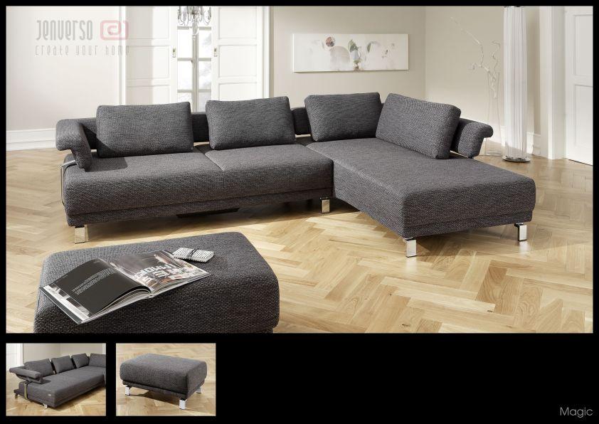 candy polsterm bel magic sofa couch coco platin ebay. Black Bedroom Furniture Sets. Home Design Ideas