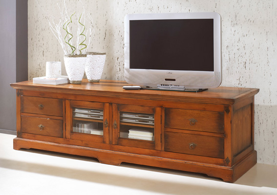 tv board lowboard bombay akazie antik sit ebay. Black Bedroom Furniture Sets. Home Design Ideas